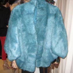 Elizabeth & James jade rabbit fur coat, $1,295