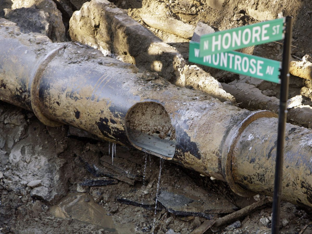Chicago's aging water delivery system has been a concern for years. Though the city is replacing the larger main water lines, like this one, smaller lead service lines to individual homes remain in use. | Associated Press