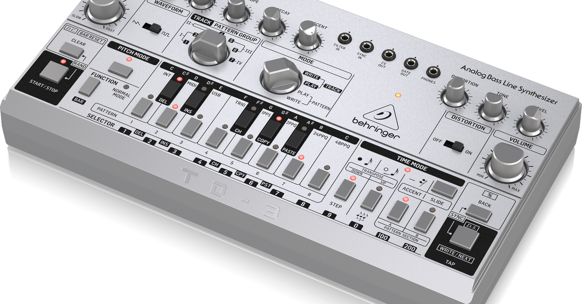 Behringer's newest synth is a 0 clone of the classic Roland TB-303