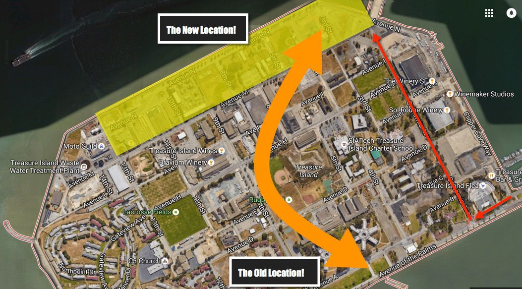 A map of the new location
