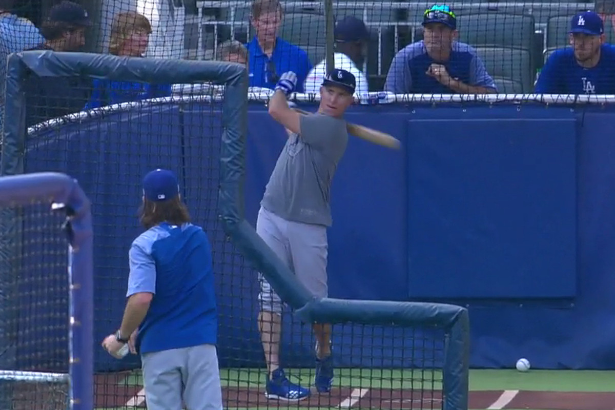 1f88bbc46f6 Braves announcer Joe Simpson chides Dodgers for batting practice ...