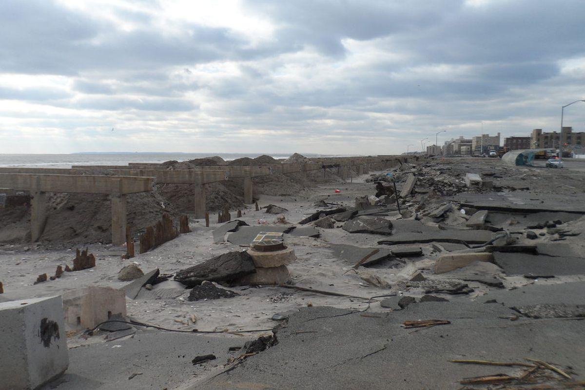 The remains of Rockaway Beach Boardwalk, 11/25