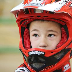 Connor Clifford, 6, watches BMX racing in South Jordan on Dec. 6, 2015.