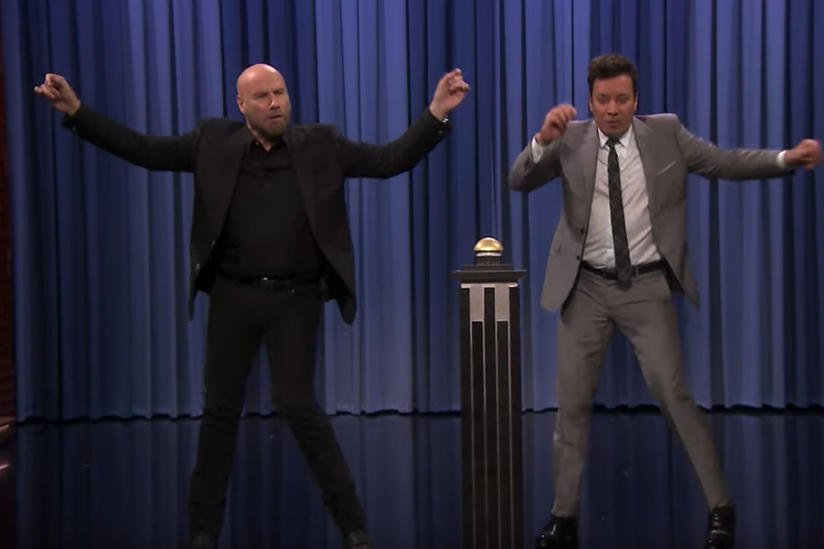 John Travolta re-enacts 'Grease' on 'The Tonight Show With