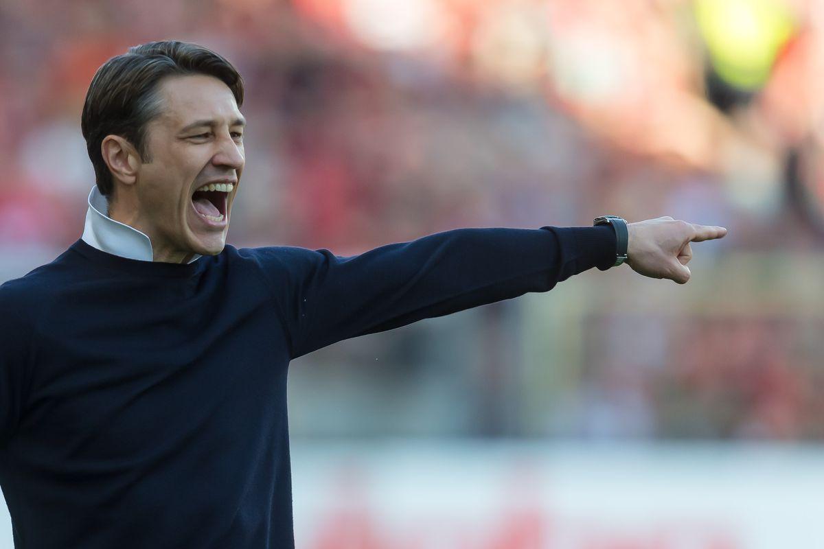 FREIBURG IM BREISGAU, GERMANY - MARCH 30: Head coach Niko Kovac of Bayern Muenchen gestures during the Bundesliga match between Sport-Club Freiburg and FC Bayern Muenchen at Schwarzwald-Stadion on March 30, 2019 in Freiburg im Breisgau, Germany.
