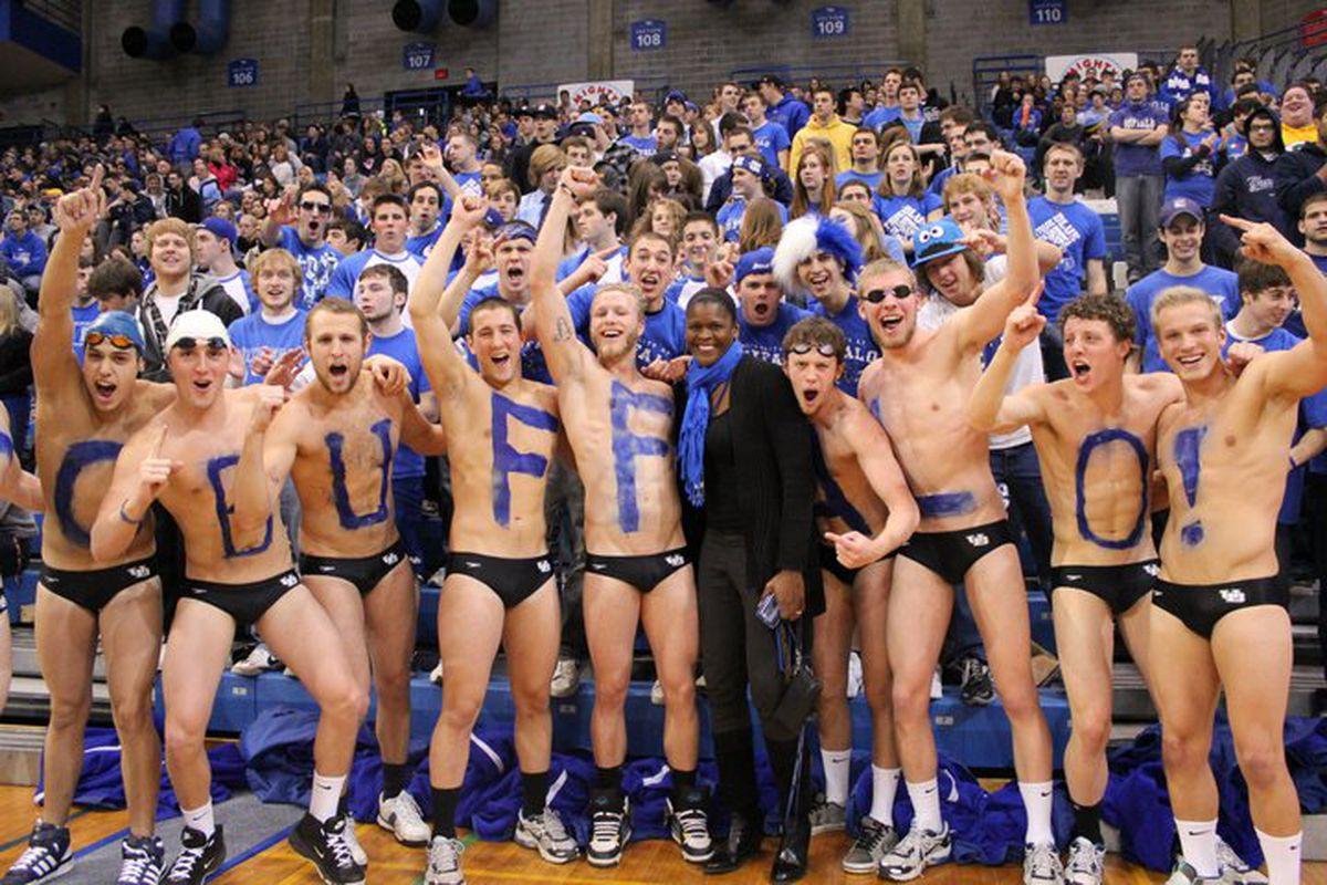 """The Mens Swim at a recent Hoops game.. via <a href=""""http://a5.sphotos.ak.fbcdn.net/hphotos-ak-ash1/167349_10150093834019474_54514569473_5979000_7246509_n.jpg"""">a5.sphotos.ak.fbcdn.net</a>"""