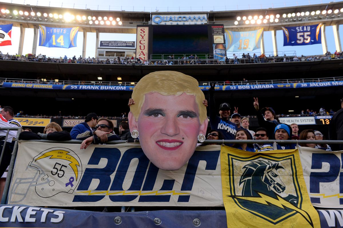Chargers' fans had some fun with 'ShEli' on Sunday