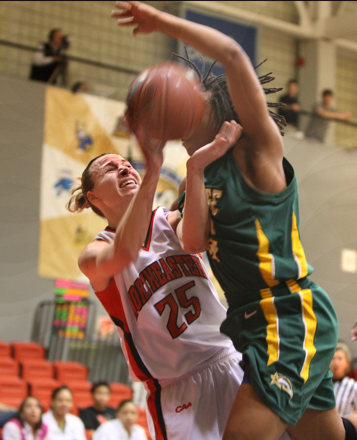 Northeastern Against George Mason In Women's Basketball