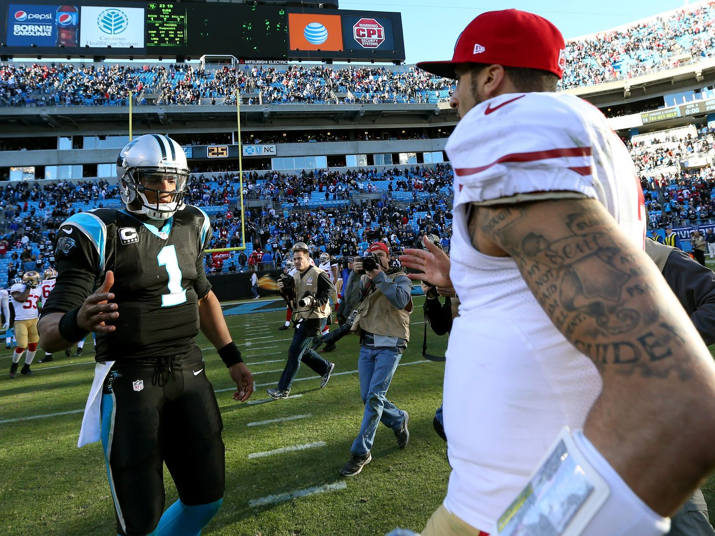 Colin Kaepernick and Cam Newton aren t even remotely the same player -  Niners Nation f577e9fee