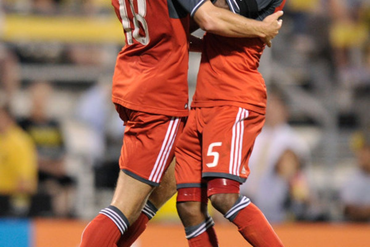 Nick Soolsma and Ashtone Morgan are two key parts of Toronto FC's goal to have two quality players at each position.  Problem is there is only one Ashtone Morgan to play left back.