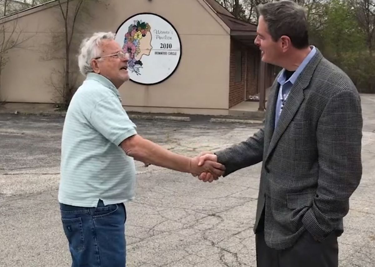 Dr. Ulrich Klopfer (left) frequently visited with Shawn Sullivan, founder of The Life Center.