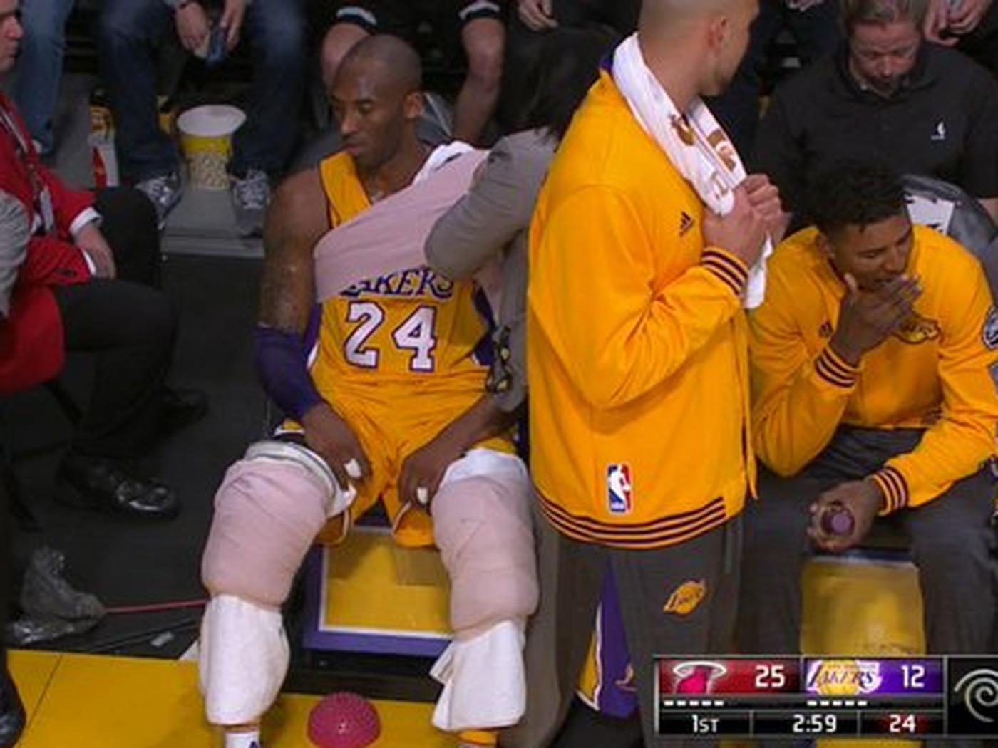 d2eb2917dd2 Kobe Bryant needs so many ice packs and wraps he looks like the dang  Michelin Man - SBNation.com
