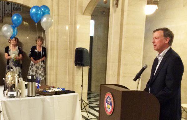 "Gov. John Hickenlooper called education Commissioner Robert Hammond's retirement ""a sad day."""
