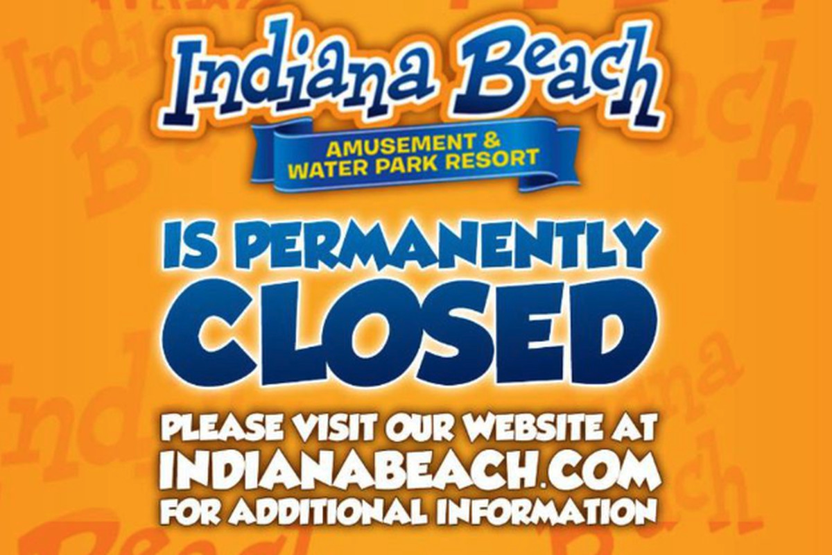 Indiana Beach Amusement Park announced its closing with a Facebook post.