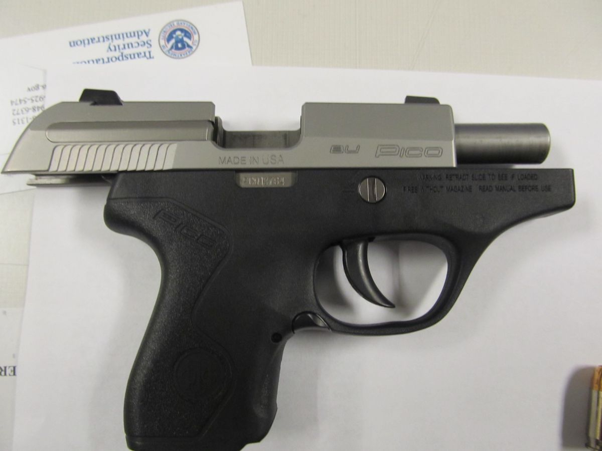 A loaded .380 caliber Beretta firearm was found in carry-on bag at Midway Monday morning. | TSA