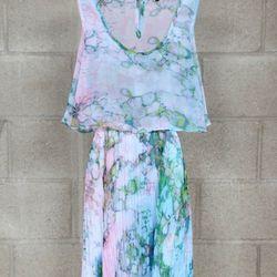 "<a href=""http://www.mikkatmarket.com/product/printed-pleated-dress"">Mikkat Market</a> printed pleated dress, $36"