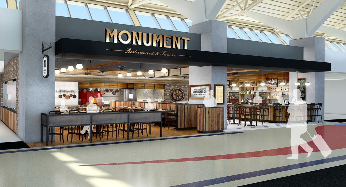 Rendering of Monument at Logan Airport