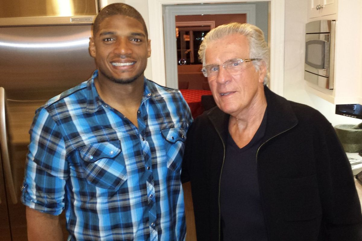 Michael Sam and David Kopay met Saturday in Los Angeles at the home of  Howard Bragman. Jim Buzinski 080f259b8