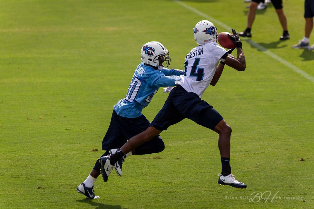 Numbers game finally catches up with Titans' last wide ...  Michael Preston Titans