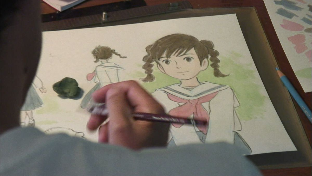 an illustration for from up on poppy hill