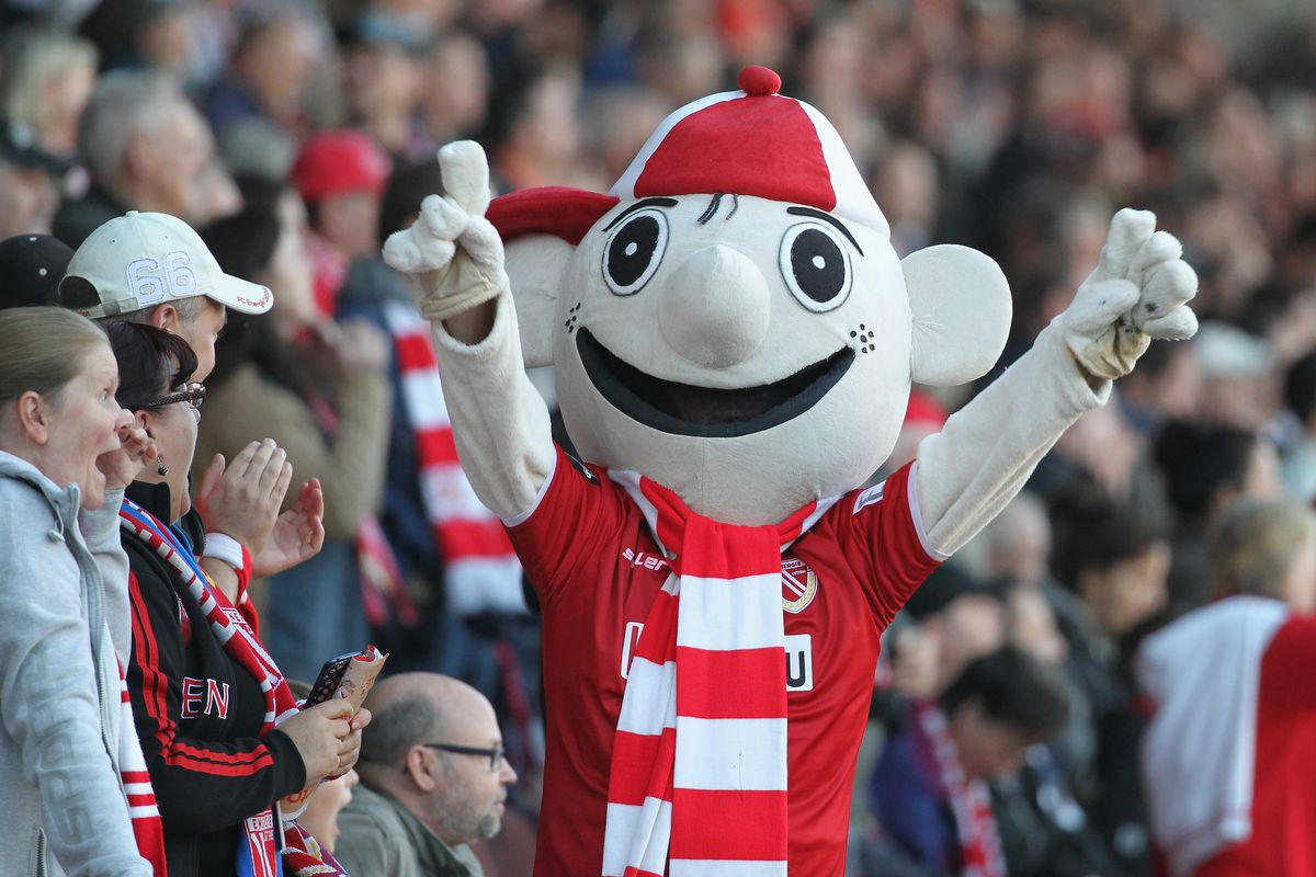 I can't decide whether or not this mascot is creepier than Lil Red
