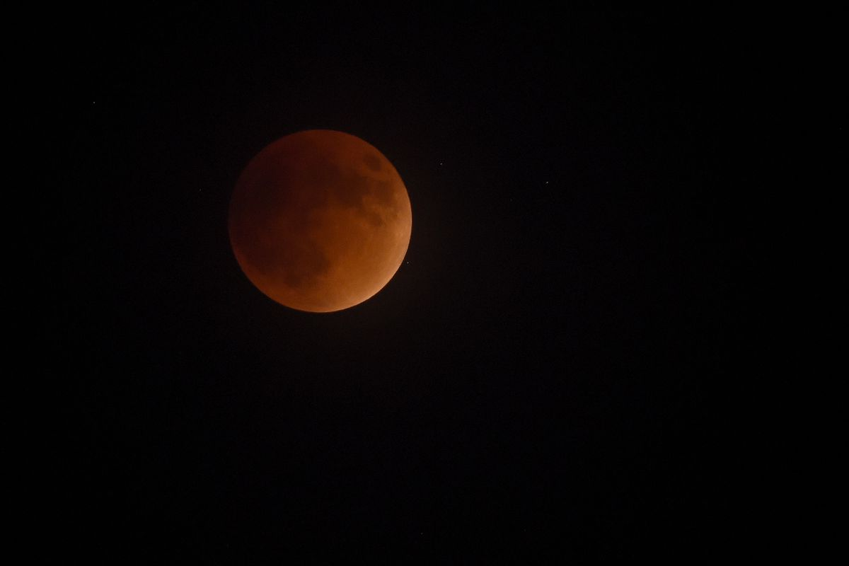 Supermoon Eclipse Visible In Skies Over Las Vegas