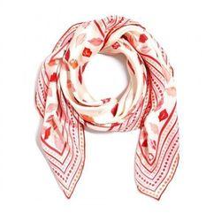 "<a href=""http://www.cwonder.com/lip-service-scarf.html"">C.Wonder Silk Lip Service Scarf</a>, $44.99 (on sale from $68)"