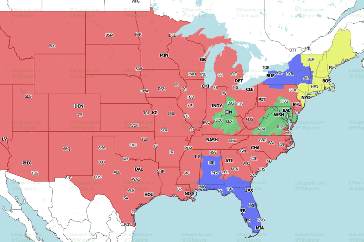 Nfl Week 17 National Tv Maps Which Games Will You Get On Sunday Baltimore Beatdown