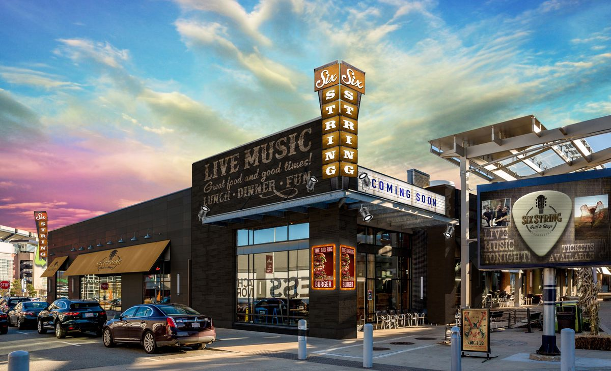 Six String Grill at Patriot Place (rendering)