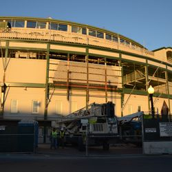 4:20 p.m. Another wide view of the front of the ballpark -
