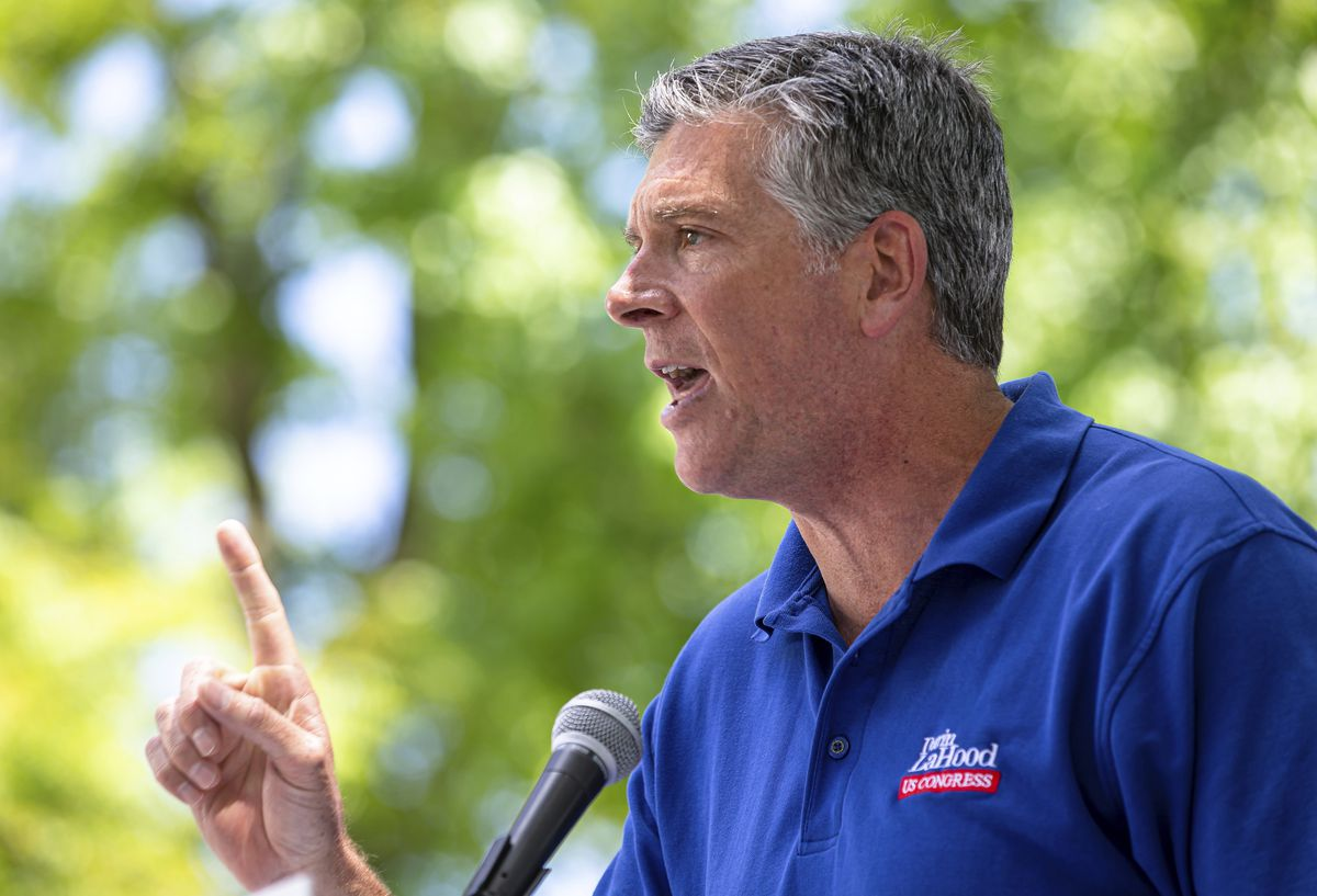 Rep. Darin LaHood, R-Ill., at the Illinois State Fairgrounds in Springfield last year.