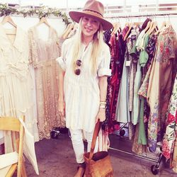 Misty Cassle wearing all vintage with Isabel Marant sandals.