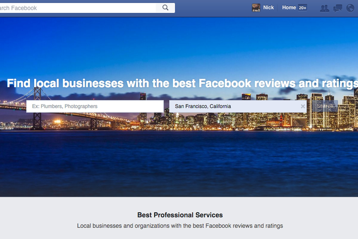 Facebook has a secret Yelp competitor for finding local
