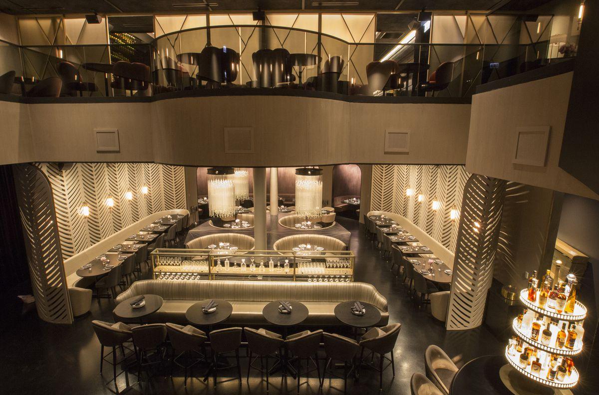 Interior of a fancy restaurant