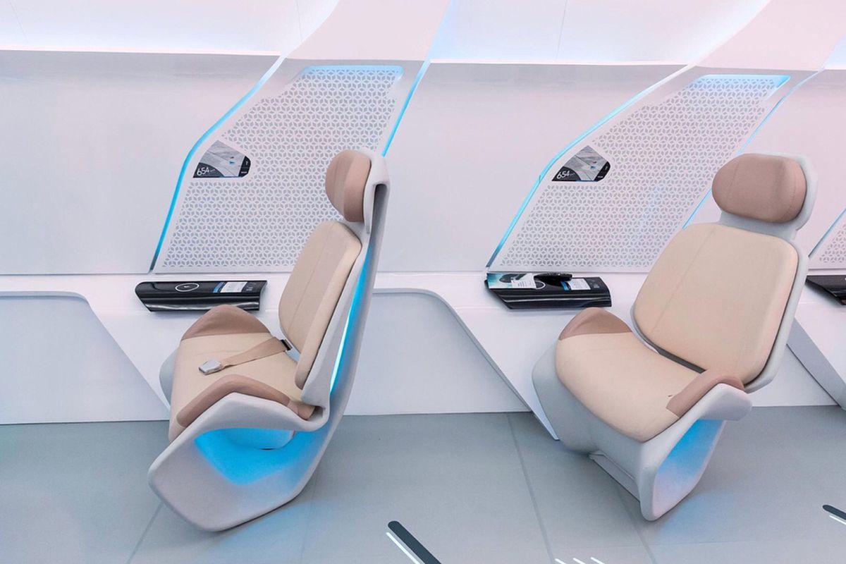 Hyperloop One prototype interior
