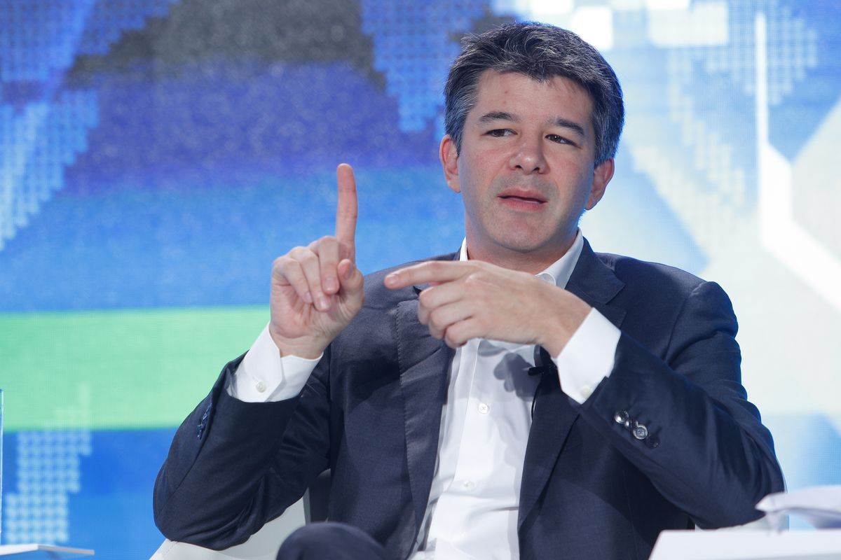 """Uber CEO Travis Kalanick attends the """"Technology Tipping Points: Digital Ubiquity"""" session of 2016 Summer Davos Forum on June 26, 2016, in Tianjin, China."""