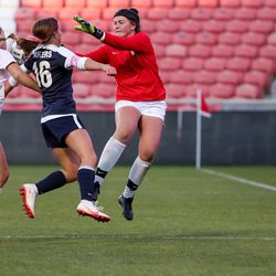 Bonneville and Olympus face off in the 5A girls soccer state championship at Rio Tinto Stadium in Sandy on Friday, Oct. 23, 2020.