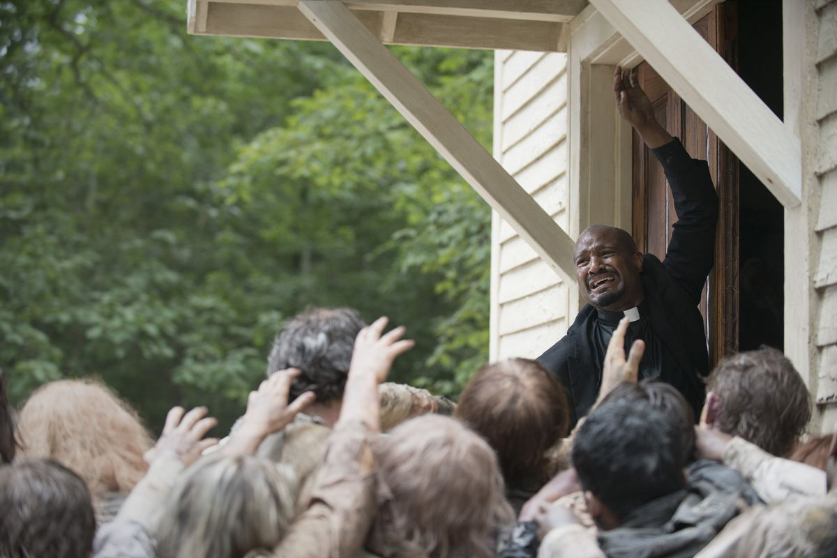 Father Gabriel (Seth Gilliam) is not having a great Monday.