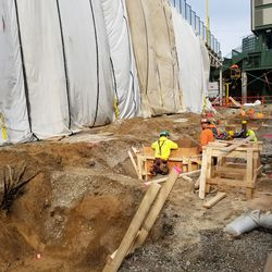 Another view of the very large hole on Sheffield