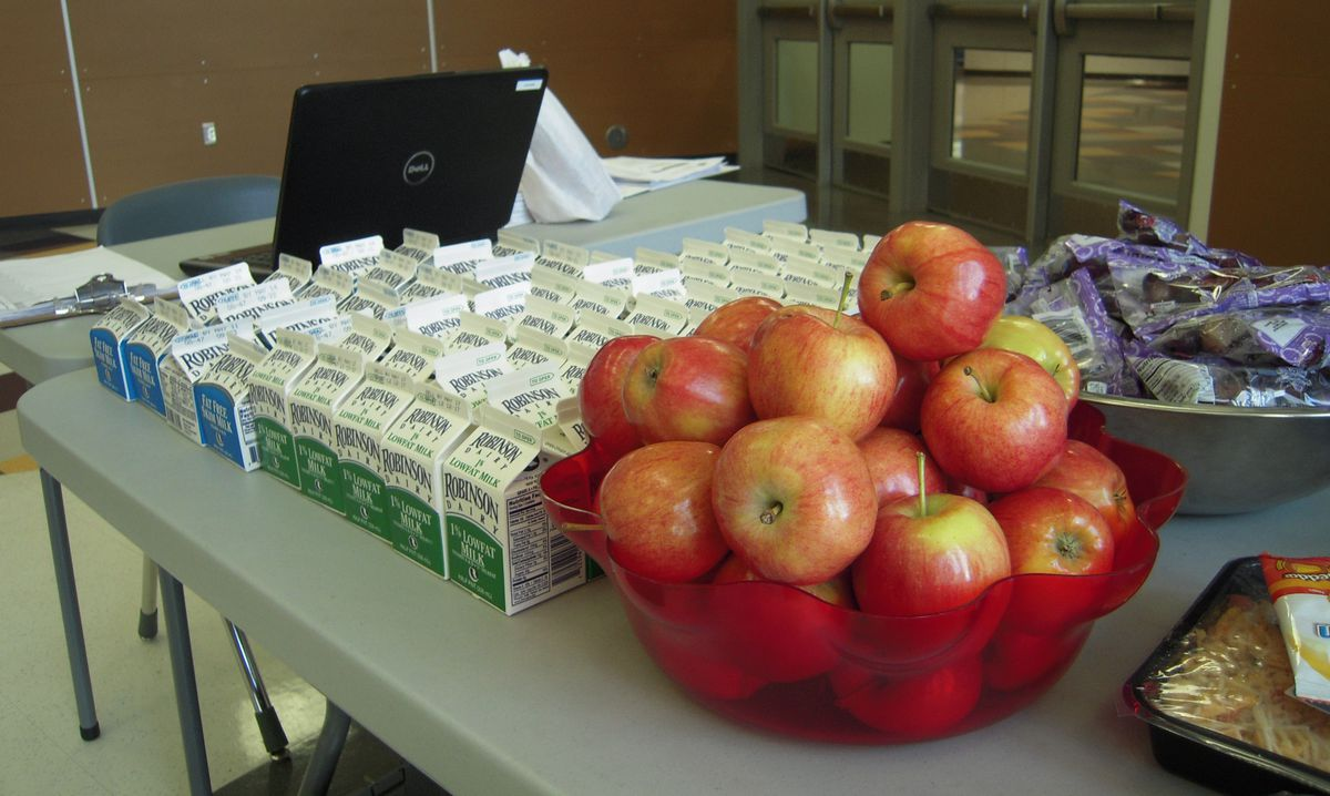 Every lunch at SOAR comes with fresh fruit and veggies, and milk is hormone-free.