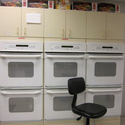 A wall of ovens