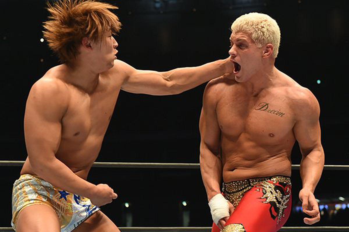 Risultati immagini per NJPW Wrestle Kingdom 12 Kota Ibushi vs Cody