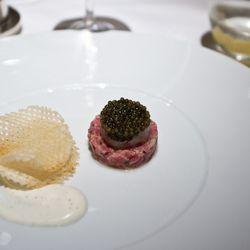 "Caviar Tartare from Le Bernardin by <a href=""http://www.flickr.com/photos/nicknamemiket/7821138638/in/pool-eater/"">nicknamemiket</a>"