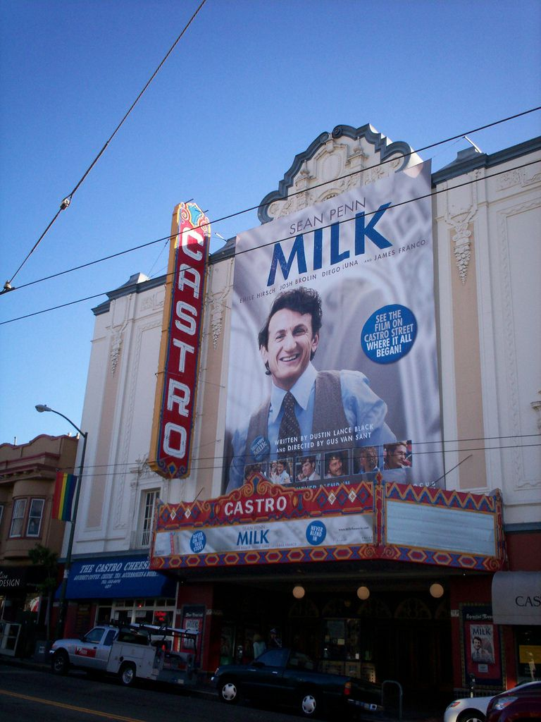 """Opening of """"Milk"""" premiered at the Castro Theatre in 2008."""