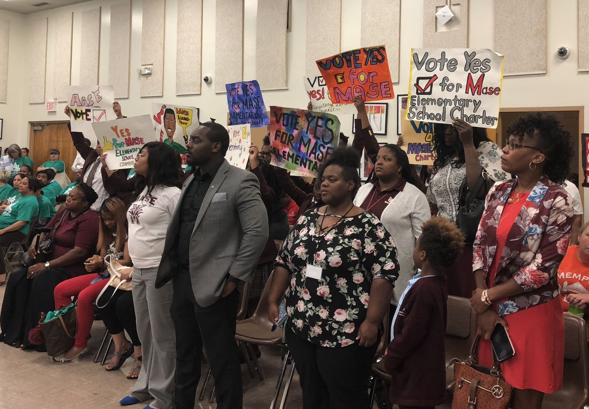 Supporters of Memphis Academy of Science and Engineering (MASE) wanted Shelby County Schools to approve opening an elementary school under the charter organization.