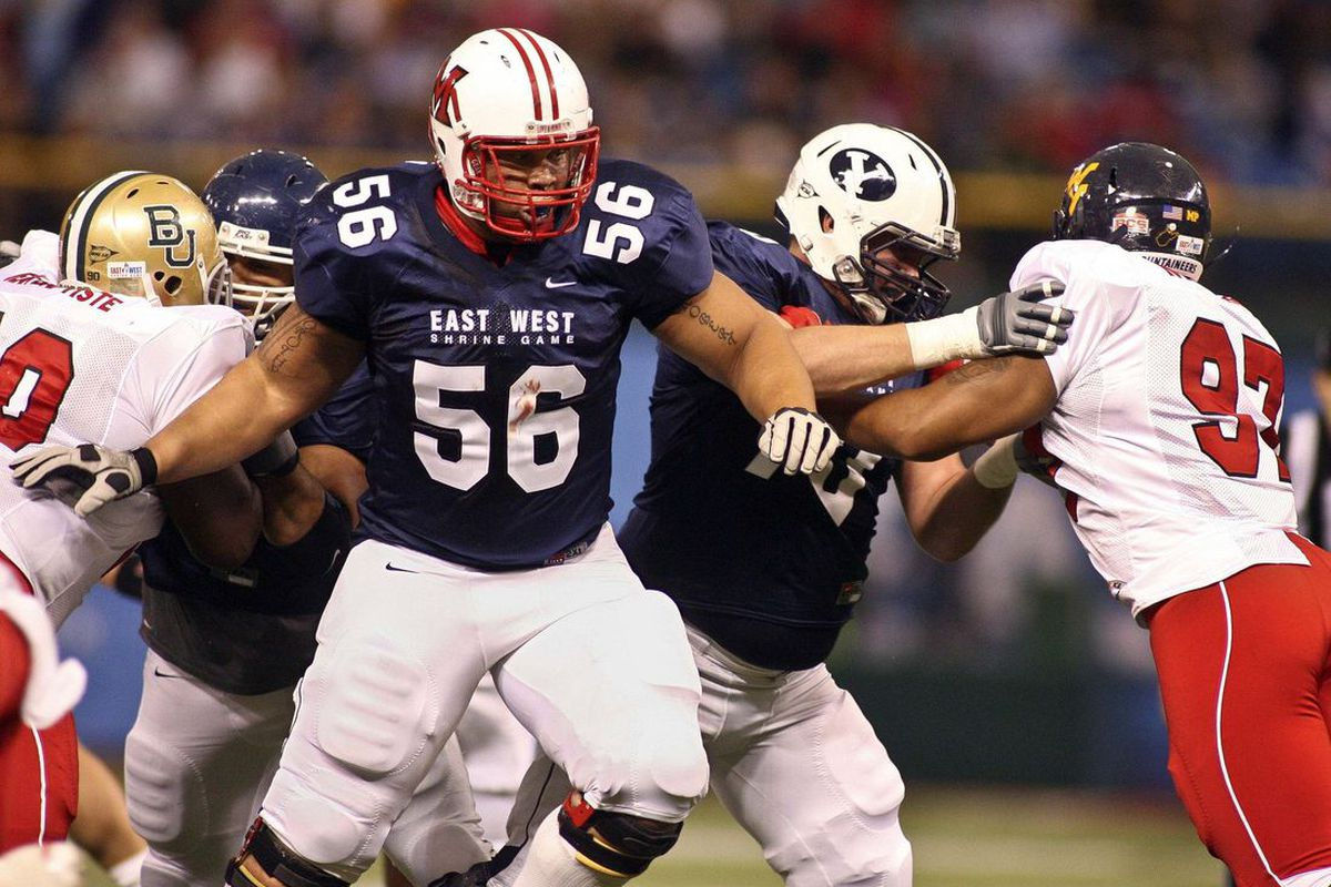 Brandon Brooks was the first MAC player taken in the draft. (Phil Sears-US PRESSWIRE)
