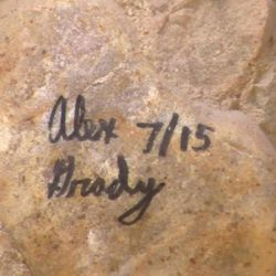 The U.S. Forest Service has launched an investigation into an unusual case of illegal graffiti written on top of an ancient rock-art panel, near Levan, Juab County, Thursday, Sept. 3, 2015. It's unusual because the lawbreakers left so many clues to their identities and that of the university they apparently attend.
