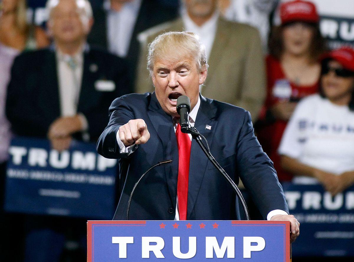 Trump at podium