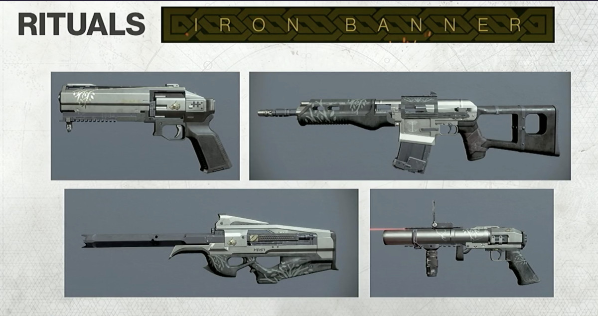 Destiny 2 - Iron Banner-themed weapons