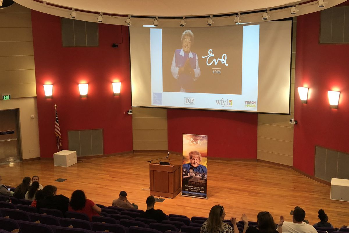 """""""The Story of Eva"""" was screened for teachers at the Indianapolis Centra Library on Wednesday."""